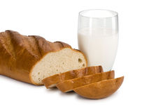 chleb mleka Zdjęcia Stock
