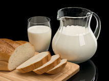 chleb mleka Obraz Stock