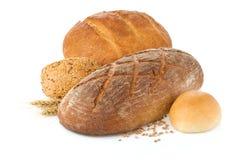 Chleb na biały tle zdjęcie stock