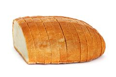 Chleb na białym tle obrazy royalty free