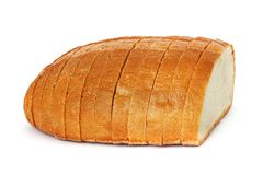 Chleb na białym tle obrazy stock
