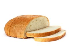 Chleb na białym tle zdjęcia royalty free