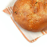Chleb na ręczniku Obrazy Royalty Free