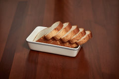 Chleb na talerzu obraz royalty free
