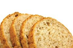 chleb odizolowywająca plasterek sterta Zdjęcia Royalty Free