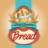 Chleb paczki etykietka Zdjęcie Stock