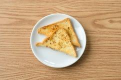 chleb piec na grillu Zdjęcie Stock