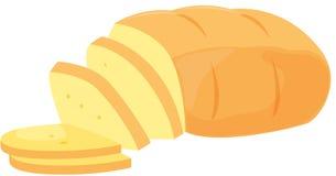 chleb pokrajać Zdjęcia Stock