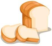 chleb pokrajać royalty ilustracja