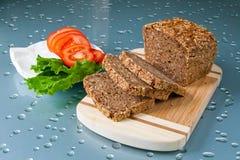 Chleb, pomidory i ser, Obraz Stock