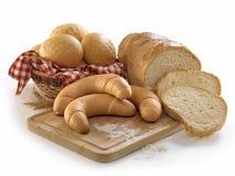 Chleb, rolki, babeczki Zdjęcia Royalty Free