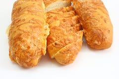 Chleb rumiany długi bochenek Obrazy Stock