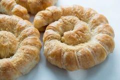 Chleb spirala odizolowywająca na białym tle fotografia stock