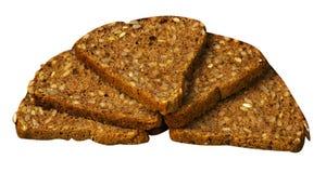 Chleb umieszczający odizolowywającym na bielu Obraz Stock
