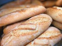 Chleb w gablocie wystawowej Zdjęcia Royalty Free