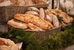 Chleb w koszu Fotografia Royalty Free