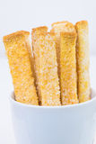 Chleb w szkle odizolowywającym na białym tle Zdjęcie Stock
