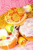 chleb Wielkanoc tortowa dekoracyjna tradycja Zdjęcie Stock