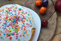 chleb Wielkanoc tortowa dekoracyjna tradycja obrazy stock