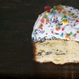 chleb Wielkanoc tortowa dekoracyjna tradycja M?ka produkt chlebowy ?wi?teczny fotografia stock