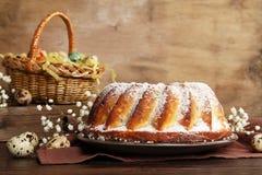 chleb Wielkanoc tortowa dekoracyjna tradycja Pojęcie wielkanoc zdjęcie royalty free