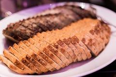 chleb wznoszący toast Zdjęcie Stock