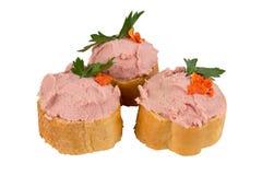Chleb z łbem i ziele na białym tle Zdjęcia Royalty Free