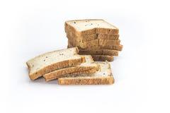Chleb z czarnymi sezamowymi ziarnami Obrazy Royalty Free