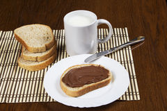 Chleb z czekolady rozszerzaniem się Zdjęcie Stock
