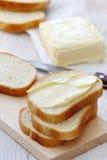 Chleb z masłem dla śniadania Zdjęcie Royalty Free
