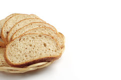 Chleb z pszenicznym otręby w talerzu obrazy royalty free
