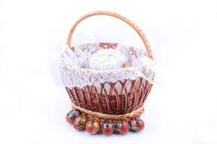 Chleb z Wielkanocnymi jajkami Zdjęcie Royalty Free