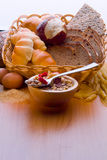 Chleb, zboże roślina, makaron Chleb, zboże roślina, Fotografia Stock