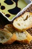 chleba balsamic ocet oleju Fotografia Stock