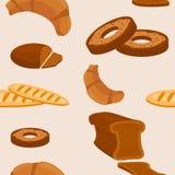 Chleba Bezszwowy wzór Zdjęcia Royalty Free