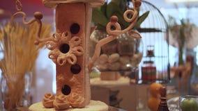 Chleba napoju Stołowa Karmowa dekoracja zbiory wideo