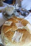 Chleba tort od serba domu Fotografia Stock