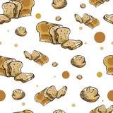 Chleba wzór Obraz Royalty Free