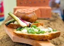 chlebowa bekon cebula Zdjęcia Stock
