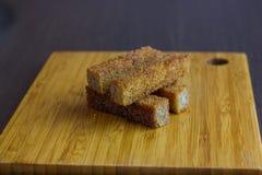 Chlebowa grzanka na talerzu dla piwa Zdjęcie Royalty Free