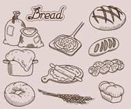 Chlebowa ikona Fotografia Royalty Free