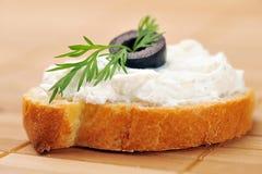 chlebowa kanapka wznosił toast Obrazy Royalty Free