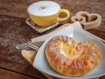 chlebowa kawa fotografia royalty free