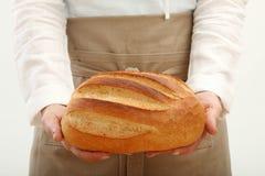 chlebowa mienia bochenka osoba Zdjęcie Royalty Free