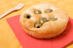 chlebowa płaska oliwka Obrazy Stock