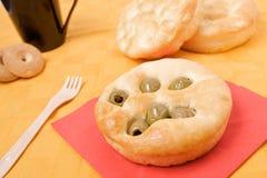 chlebowa płaska oliwka Zdjęcie Royalty Free