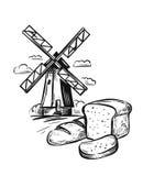 Chlebowa piekarnia i młyn royalty ilustracja
