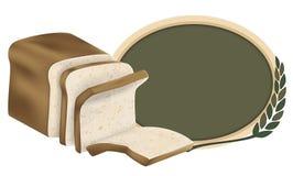 chlebowa projekta adry bochenka loga banatka cała Obraz Royalty Free