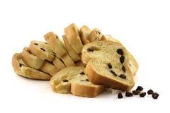 Chlebowa rodzynka odizolowywająca na białym tle Fotografia Stock
