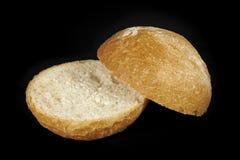 Chlebowa rolka ciąca w połówce Obrazy Royalty Free